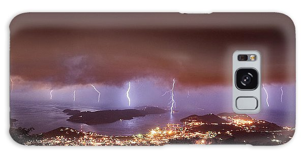 Lightning Over Water Island Galaxy Case
