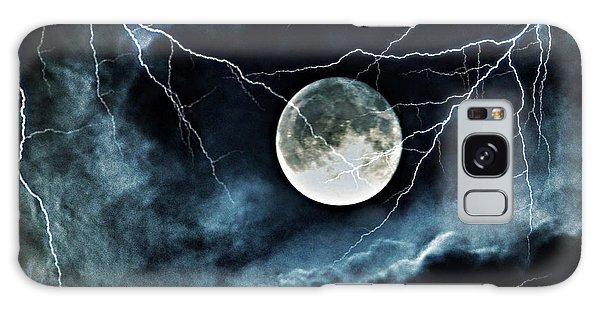 Lightning Sky At Full Moon Galaxy Case