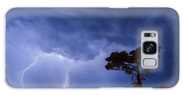 Lightning Storm On A Lonely Country Road Galaxy Case