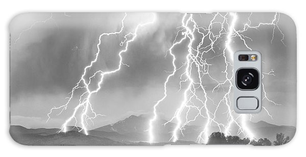 Lightning Striking Longs Peak Foothills 4cbw Galaxy Case