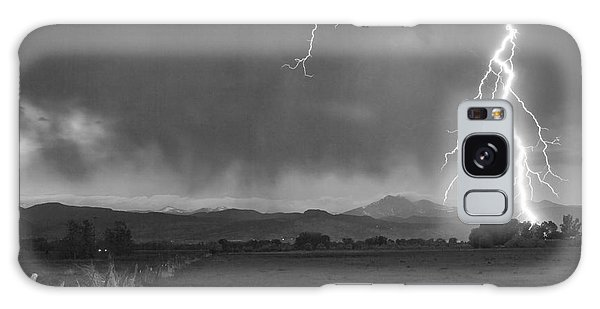 Lightning Striking Longs Peak Foothills 5bw Galaxy Case