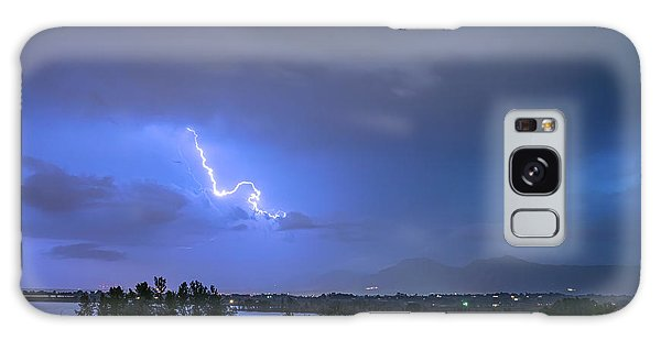 Galaxy Case featuring the photograph Lightning Striking Over Boulder Reservoir by James BO Insogna
