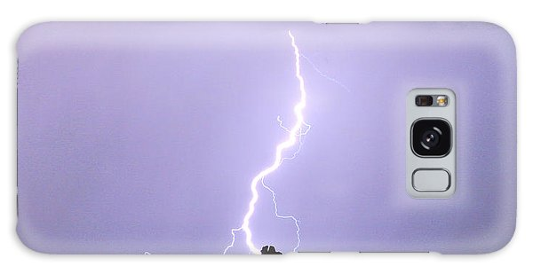 Lightning Striking Pinnacle Peak Scottsdale Az Galaxy Case