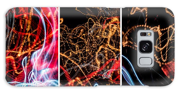 Lightpainting Triptych Wall Art Print Photograph 5 Galaxy Case