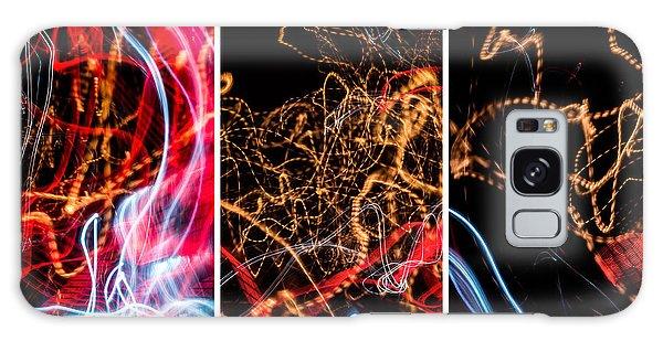Lightpainting Triptych Wall Art Print Photograph 5 Galaxy Case
