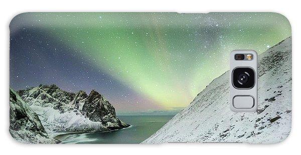 Lights Above Kvalvika Galaxy Case