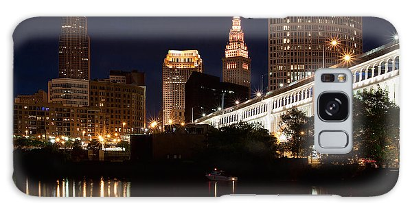 Lights In Cleveland Ohio Galaxy Case