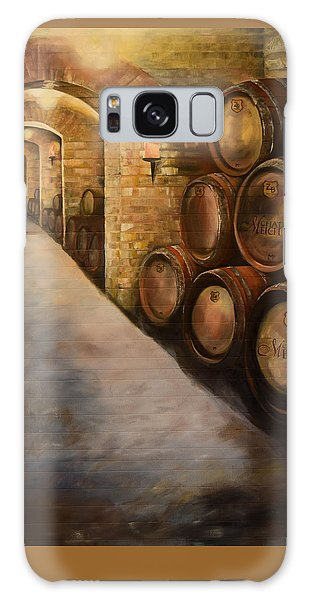 Galaxy Case featuring the painting Lights In The Wine Cellar - Chateau Meichtry Vineyard by Jan Dappen