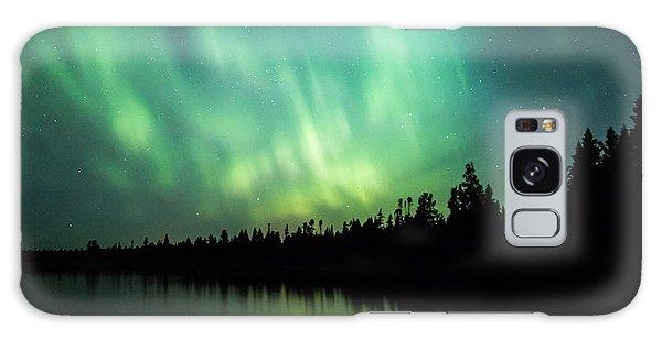 Lights Over Moose Lake Galaxy Case