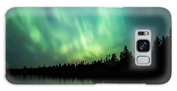 Lights Over Moose Lake Galaxy Case