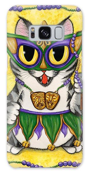Lil Mardi Gras Cat Galaxy Case