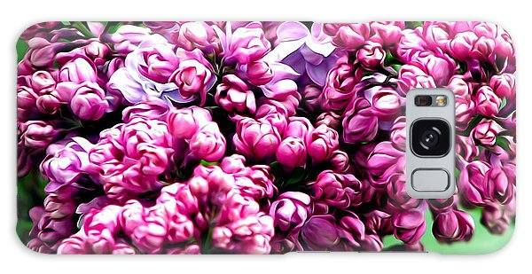 Galaxy Case featuring the photograph Lilac Blossoms Abstract Soft Effect 1 by Rose Santuci-Sofranko