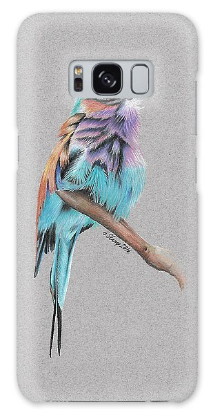 Lilac Breasted Roller Galaxy Case