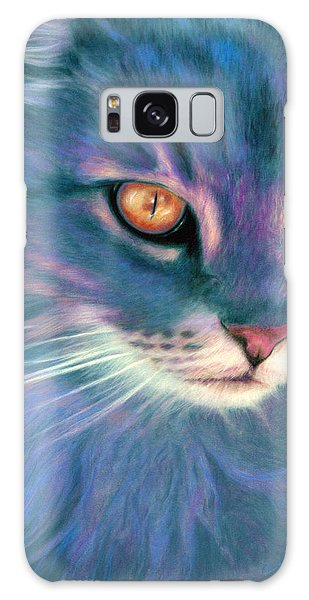 Lilac Cat Galaxy Case by Ragen Mendenhall