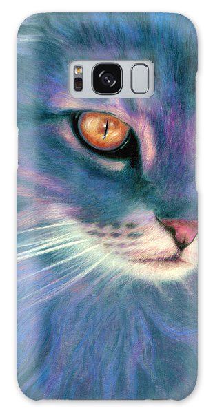 Lilac Cat Galaxy Case by Ragen Mendenhall