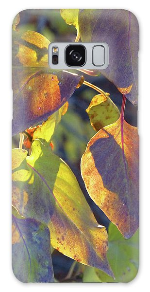 Lilac Leaves Galaxy Case