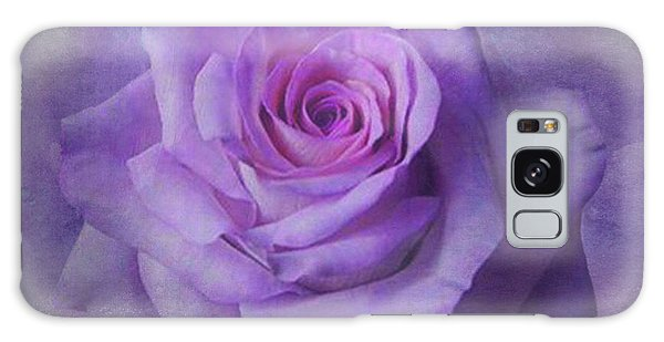 Lilac Purple Rose Galaxy Case