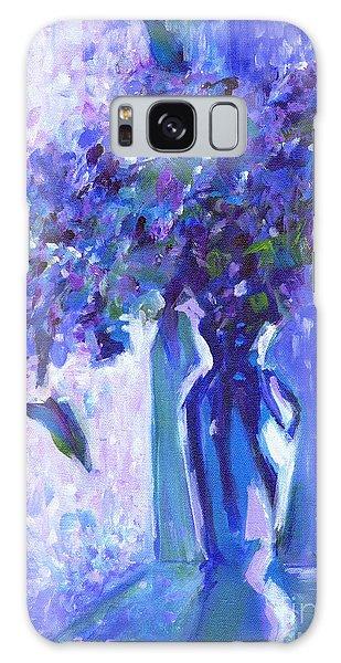 Lilac Rain  Galaxy Case