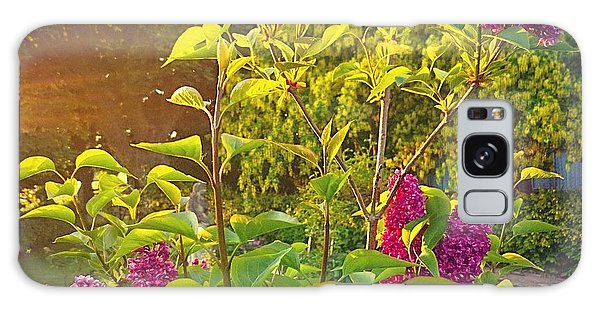 Lilac Tree Galaxy Case