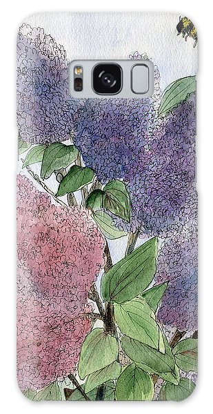 Lilacs And Bees Galaxy Case
