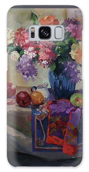 Lilacs And Peonies Galaxy Case