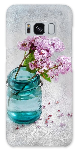 Lilacs In A Glass Jar Still Life Galaxy Case