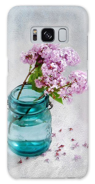 Lilacs In A Glass Jar Still Life Galaxy Case by Louise Kumpf