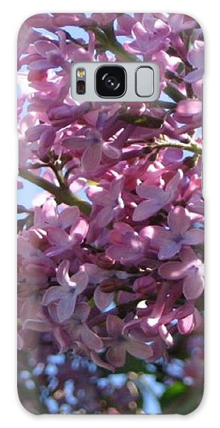 Lilacs In Bloom 2 Galaxy Case by Barbara Yearty