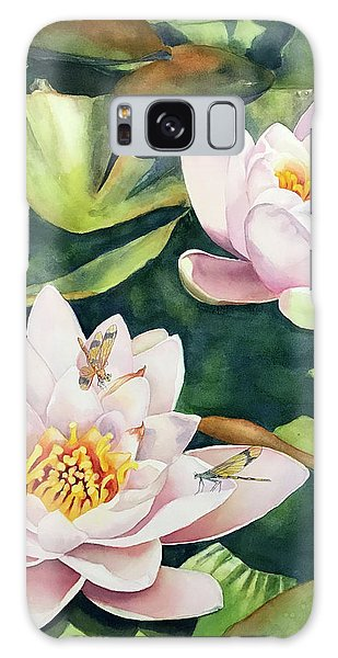 Lilies And Dragonflies Galaxy Case