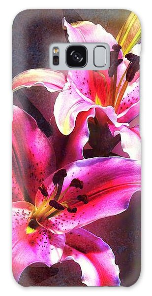Lilies At Night Galaxy Case