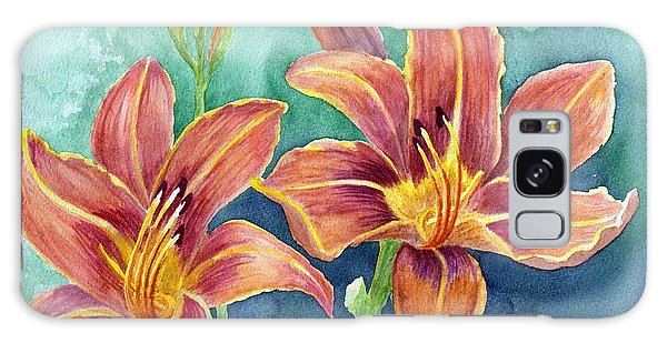 Lilies Galaxy Case by Eleonora Perlic