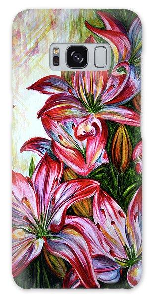 Lilies Galaxy Case