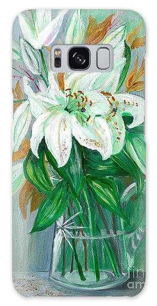 Lilies In A Glass Vase - Painting Galaxy Case