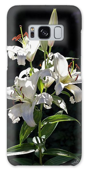 Lilies In The Sun Galaxy Case