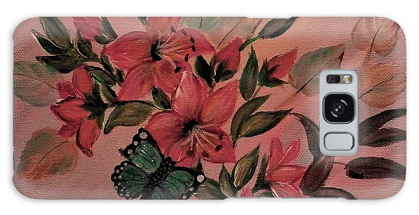 Lilies With Butterflies Galaxy Case