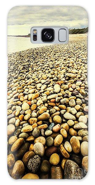 Stone Wall Galaxy Case - Lillico Beach Tasmania by Jorgo Photography - Wall Art Gallery