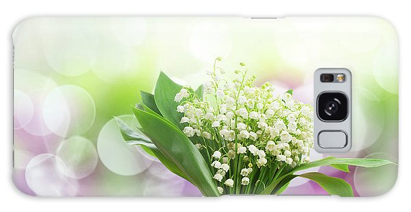 Lilly Of Valley Posy In Glass Galaxy Case