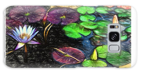 Lily Pad Pond Galaxy Case