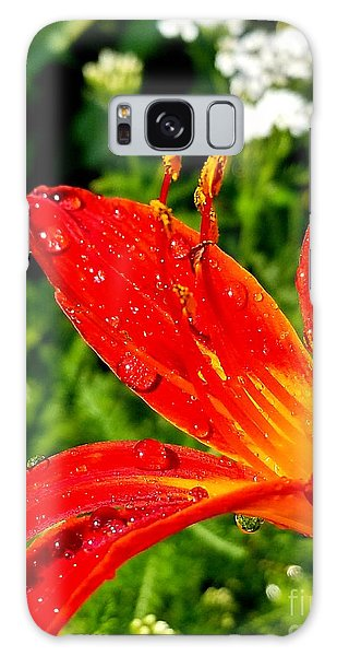 Lily And Raindrops Galaxy Case