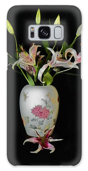 Lily In Asian Ginger Jar Galaxy Case