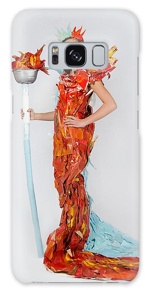 Lily In Fire And Ice Queen Galaxy Case