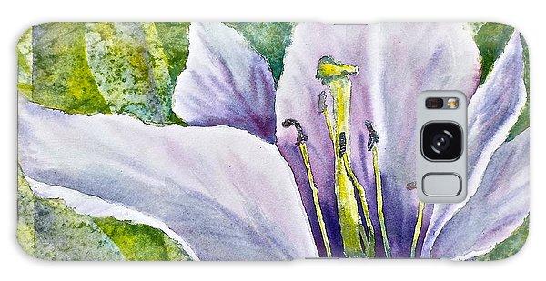 Lily In Purple Galaxy Case