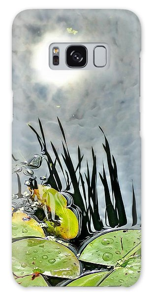 Lily Pad Reflection Galaxy Case