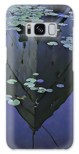 Lily Pads And Reflection Galaxy Case by John Hansen