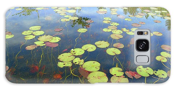 Lily Pads And Reflections Galaxy Case