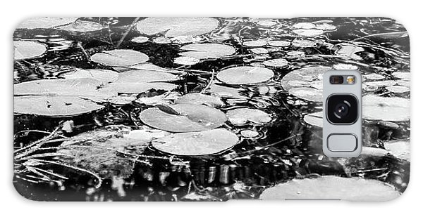 Lily Pads, Black And White Galaxy Case