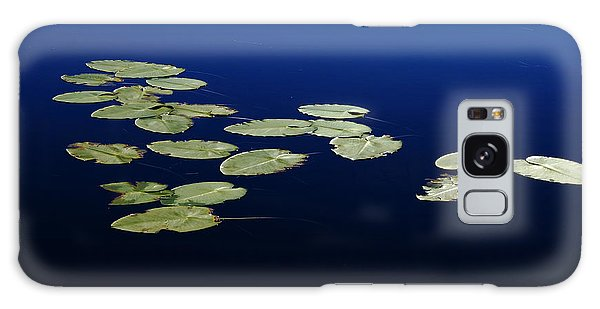 Lily Pads Floating On River Galaxy Case by Debbie Oppermann