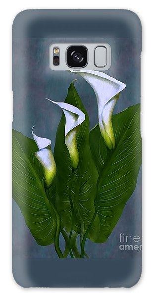 White Calla Lilies Galaxy Case by Peter Piatt