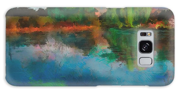 Lily Pond A La Torrie Galaxy Case by Dee Flouton