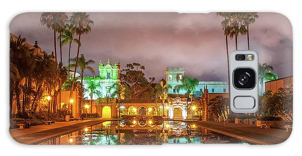 Lily Pond At Night Galaxy Case